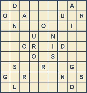 Mystery Godoku Puzzle for September 17, 2007