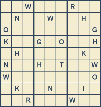 Mystery Godoku Puzzle for October 22, 2007