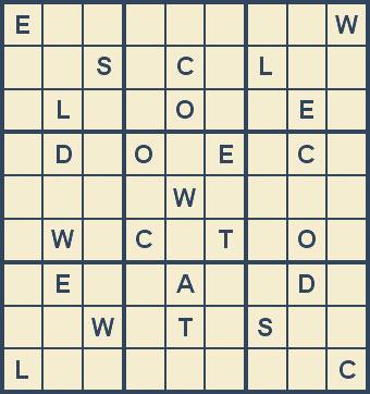 Mystery Godoku Puzzle for November 19, 2007