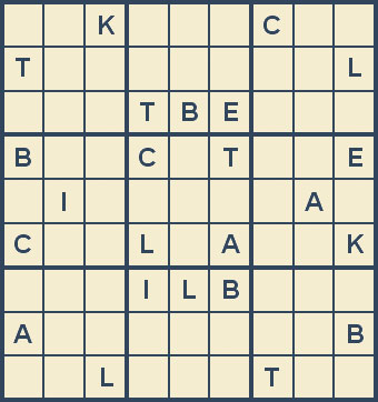 Mystery Godoku Puzzle for November 26, 2007