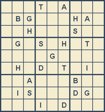 Mystery Godoku Puzzle for January 14, 2008