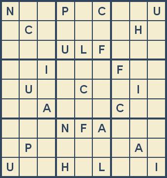 Mystery Godoku Puzzle for February 18, 2008