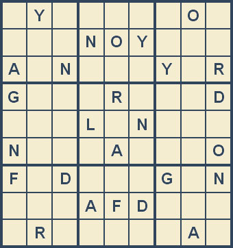 Mystery Godoku Puzzle for June 23, 2008