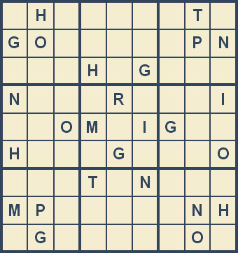 Mystery Godoku Puzzle for September 29, 2008