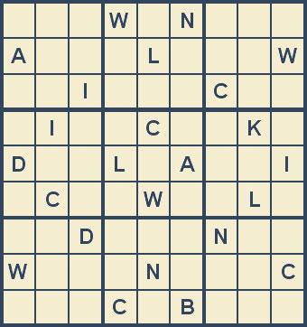 Mystery Godoku Puzzle for February 23, 2009