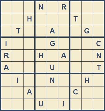 Mystery Godoku Puzzle for September 28, 2009