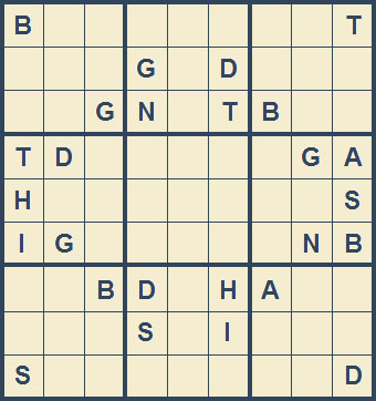 Mystery Godoku Puzzle for November 23, 2009