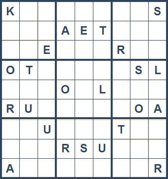 Mystery Godoku Puzzle for January 11, 2010