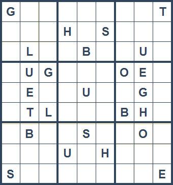 Mystery Godoku Puzzle for January 25, 2010