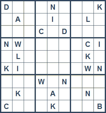 Mystery Godoku Puzzle for April 19, 2010