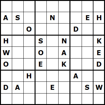 Mystery Godoku Puzzle for July 05, 2010