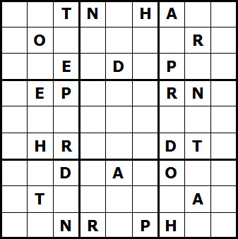 Mystery Godoku Puzzle for September 06, 2010