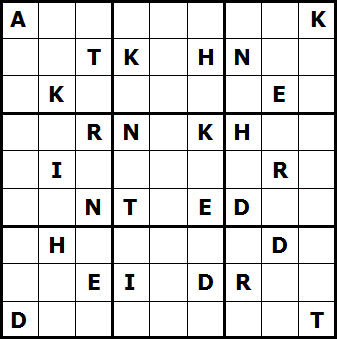 Mystery Godoku Puzzle for October 04, 2010
