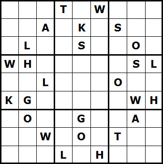 Mystery Godoku Puzzle for November 22, 2010