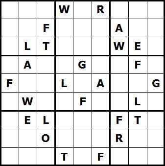 Mystery Godoku Puzzle for January 03, 2011