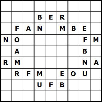 Mystery Godoku Puzzle for January 17, 2011