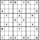 Mystery Godoku Puzzle for February 21, 2011
