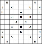Mystery Godoku Puzzle for May 30, 2011