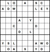 Mystery Godoku Puzzle for June 06, 2011