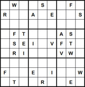 Mystery Godoku Puzzle for June 13, 2011