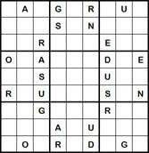 Mystery Godoku Puzzle for June 20, 2011