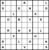 Mystery Godoku Puzzle for June 27, 2011