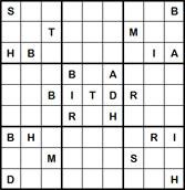 Mystery Godoku Puzzle for January 23, 2012