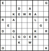 Mystery Godoku Puzzle for April 23, 2012
