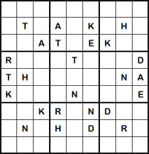 Mystery Godoku Puzzle for October 01, 2012